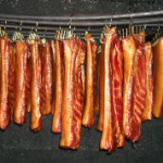 hanging meat